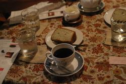 サイエンスカフェで出てきたコーヒーとお菓子