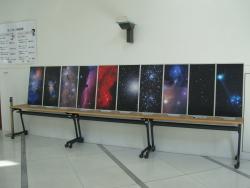 ホワイエの宇宙パネル展示