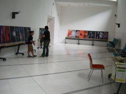 宇宙パネル展示と月探査情報ステーション展示