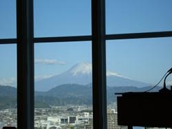 富士山が見える会議室