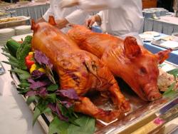 豚の丸焼き!