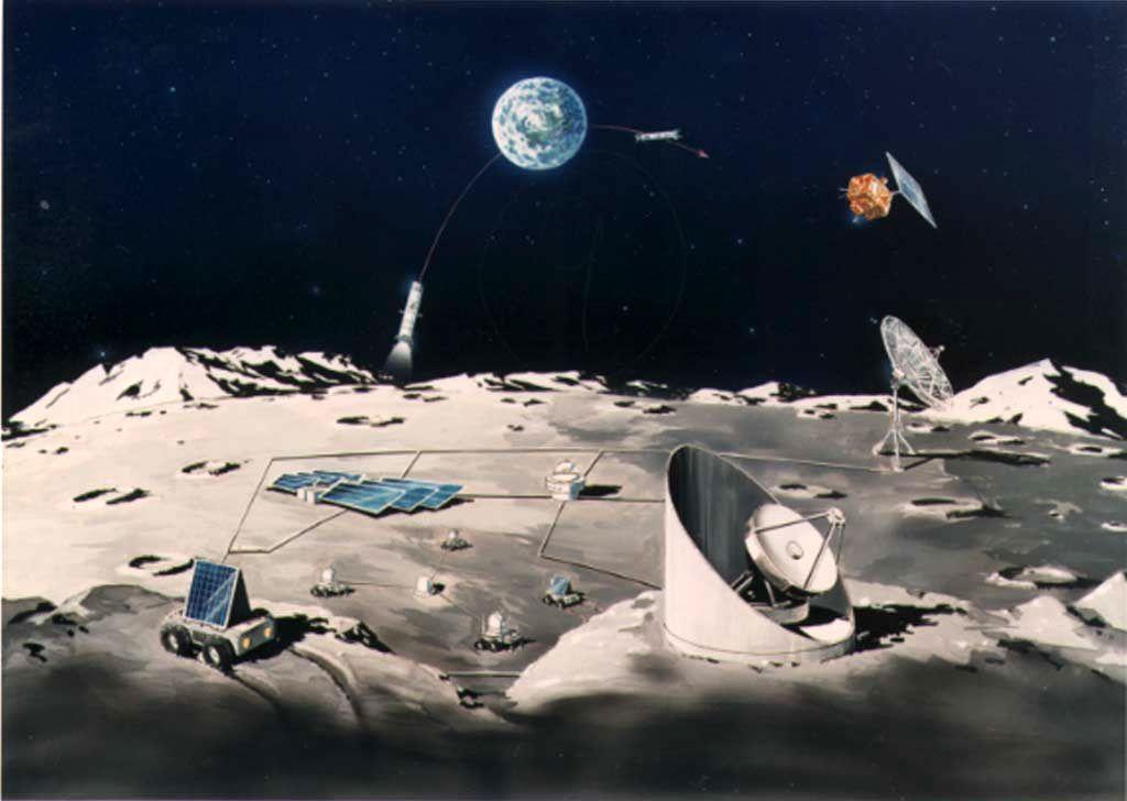 月基地・その二 1024x768 月基地・その二 初期段階の月基地はこのように基地ごと直...
