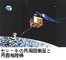 セレーネの月周回衛星と月面着陸機