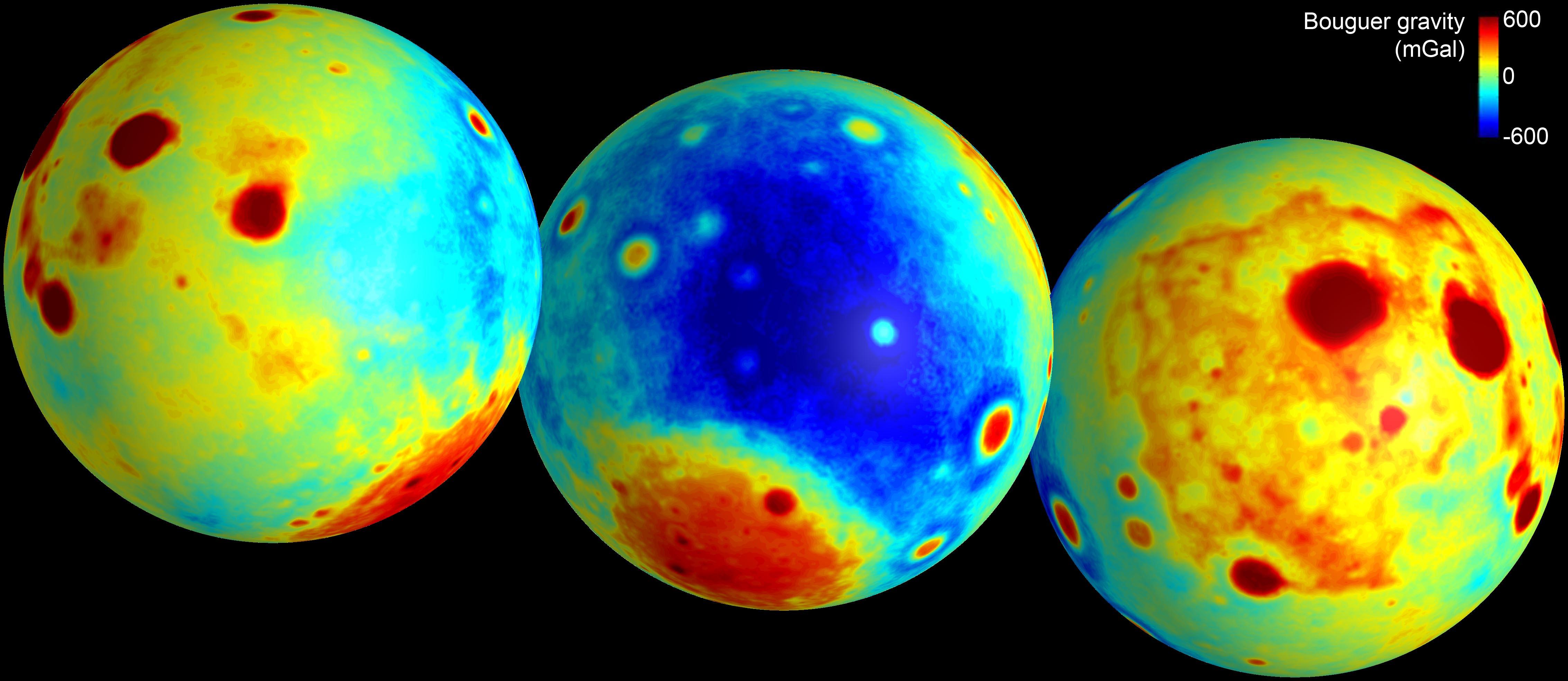 月探査機グレイルのデータを元に...