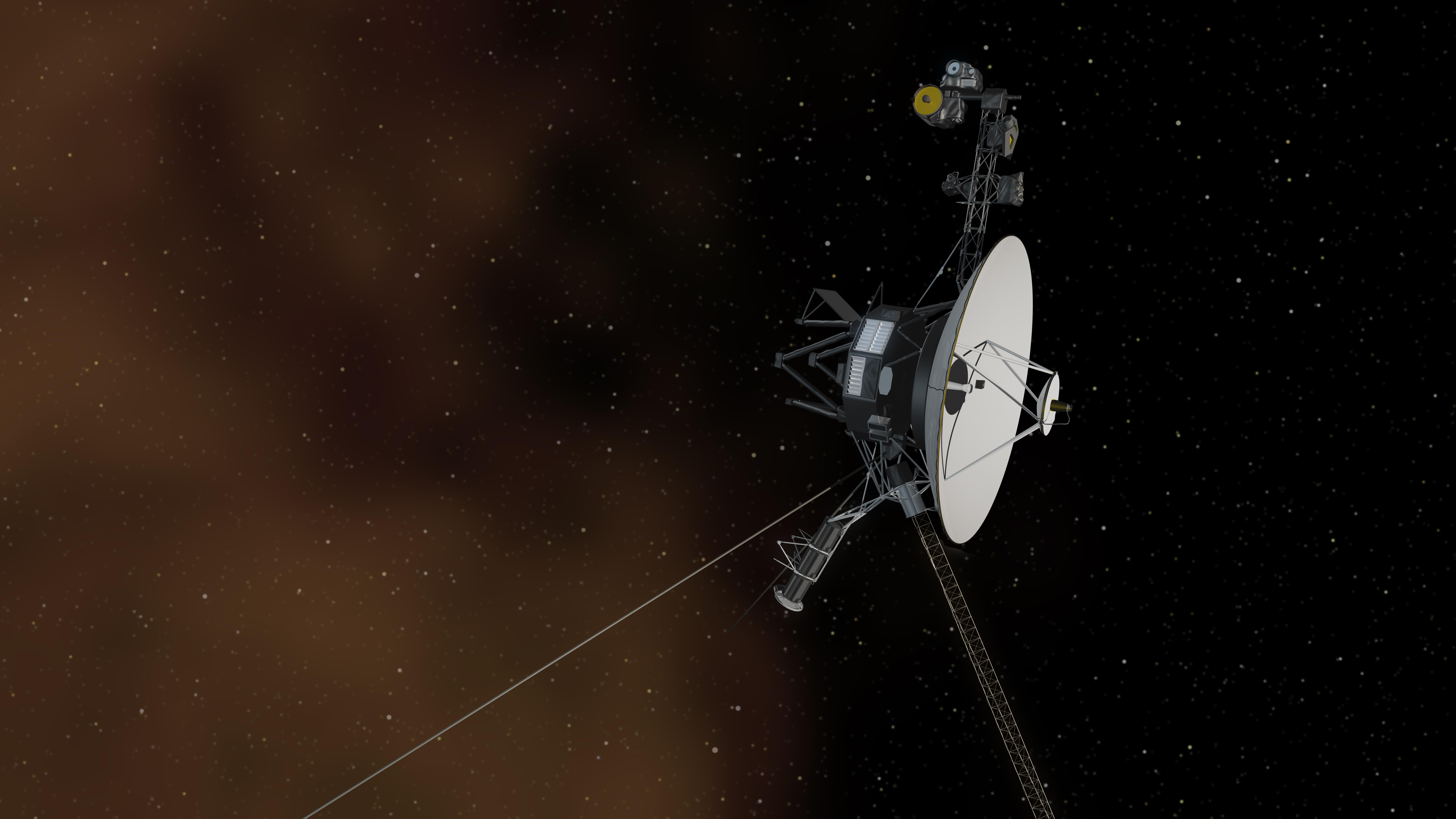 恒星間空間を旅するボイジャー(想像図)
