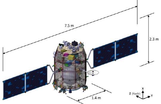 韓国の月探査衛星の想像図
