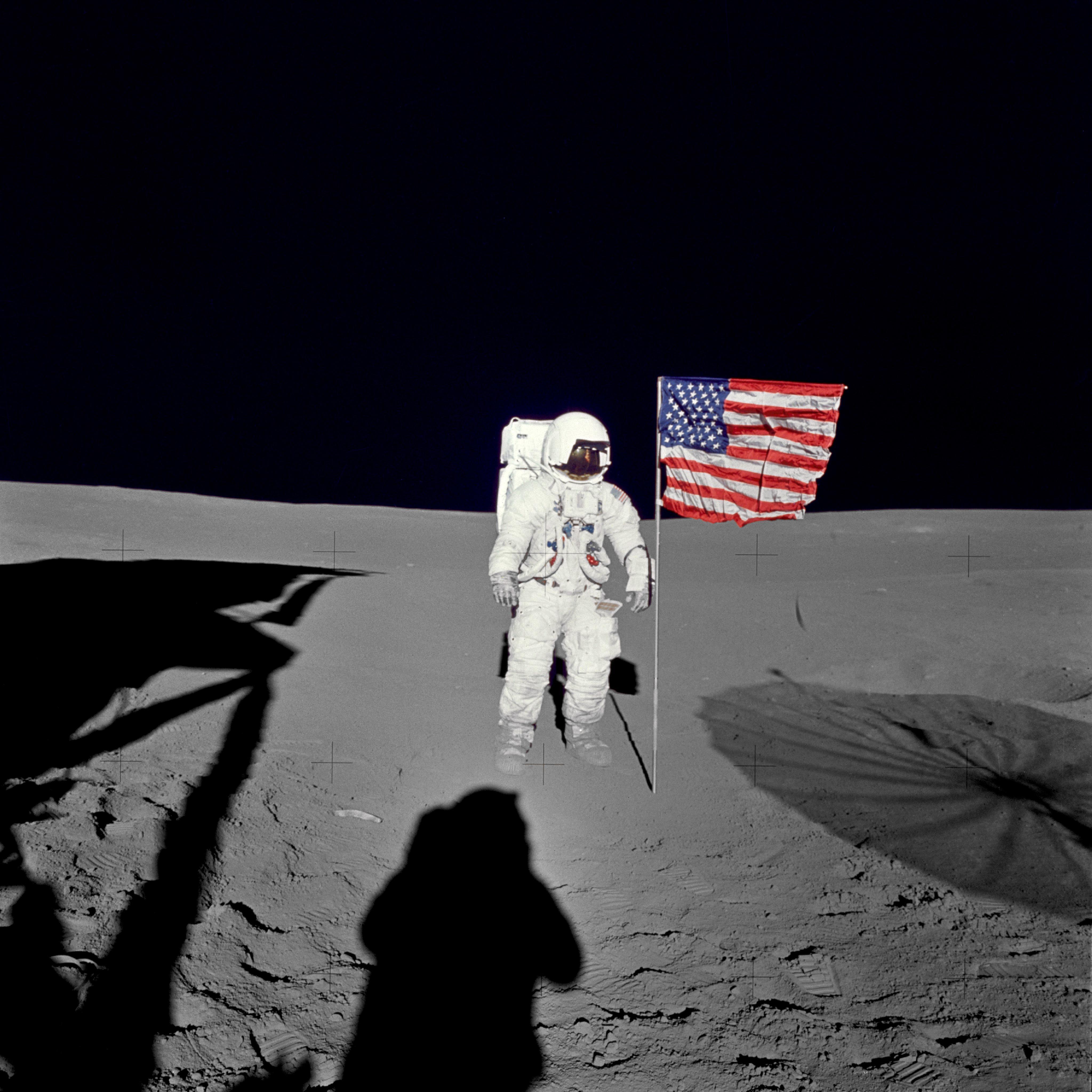 月面のエドガー・ミッチェル宇宙飛行士