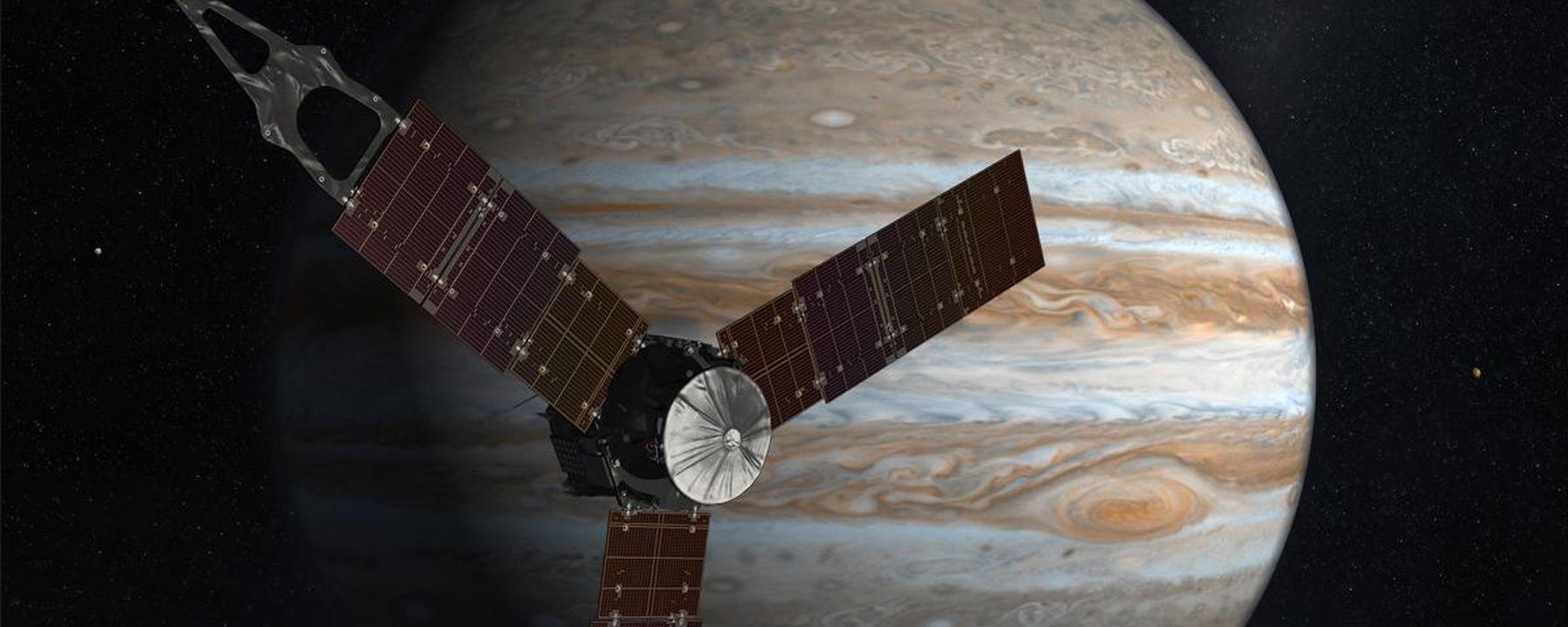 木星を周回するジュノー探査機