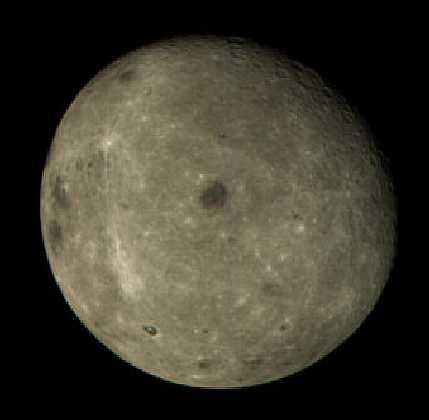 火星探査機「のぞみ」が撮影した月の裏側