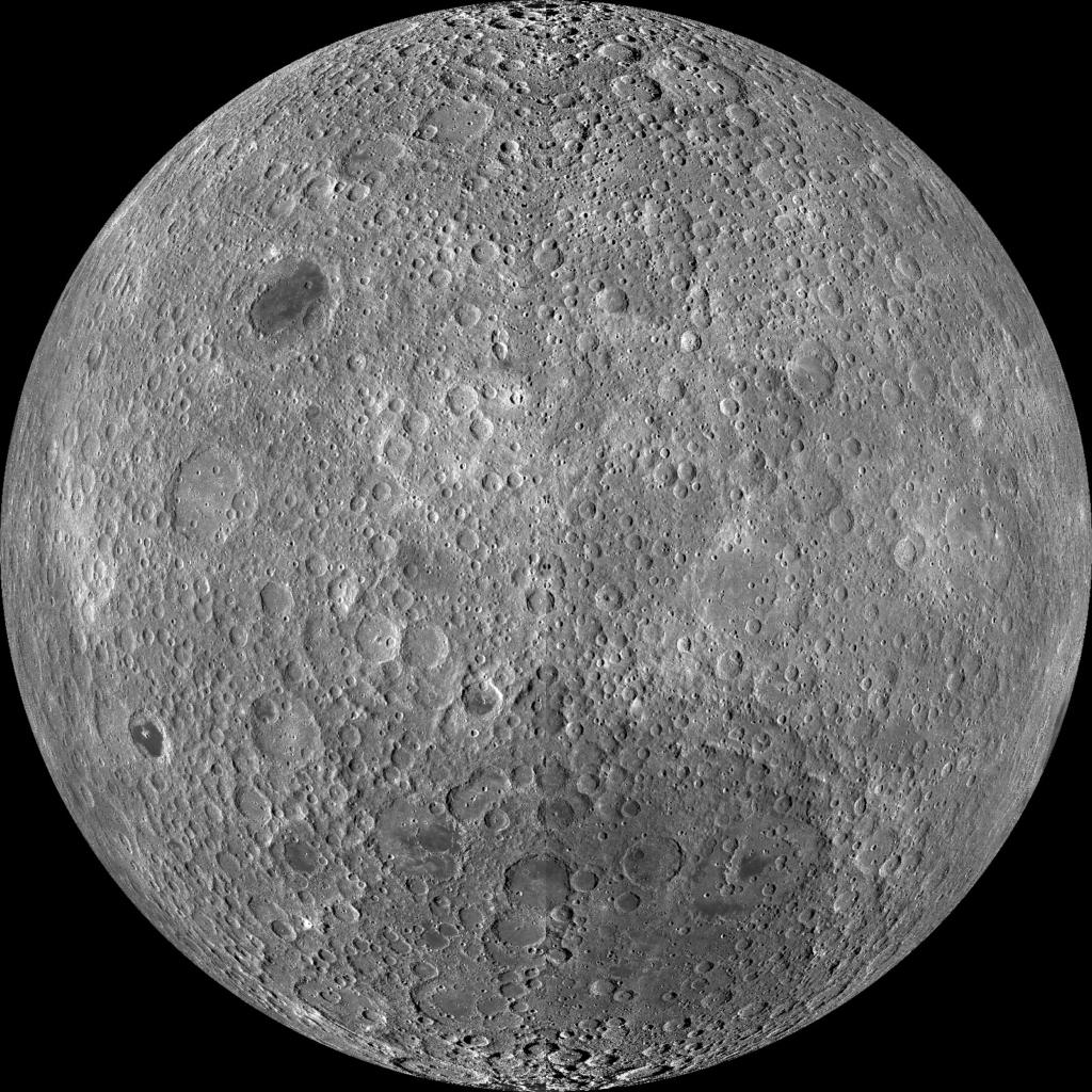 ルナー・リコネサンス・オービターのデータによって作成された月の裏側の図
