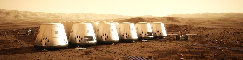 マーズ・ワン計画における火星居住イメージ