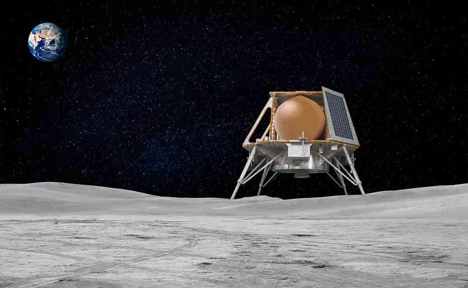 チーム・インダスの月着陸船の想像図