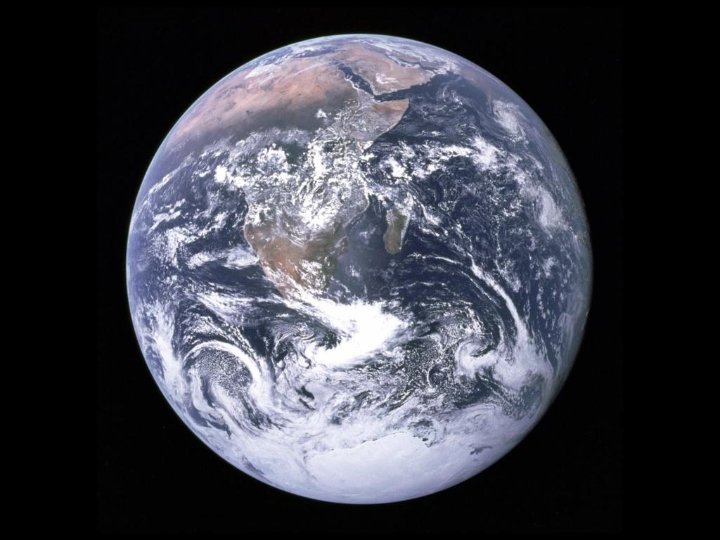 アポロ17号が撮影した地球「ブルー・マーブル」