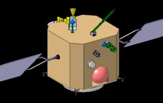 2022年打ち上げ予定の韓国の月周回衛星の想像図