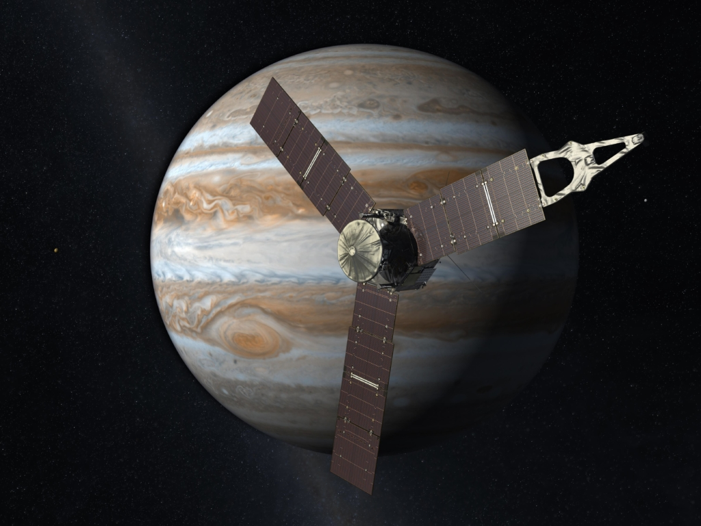 木星に到着したジュノーの想像図