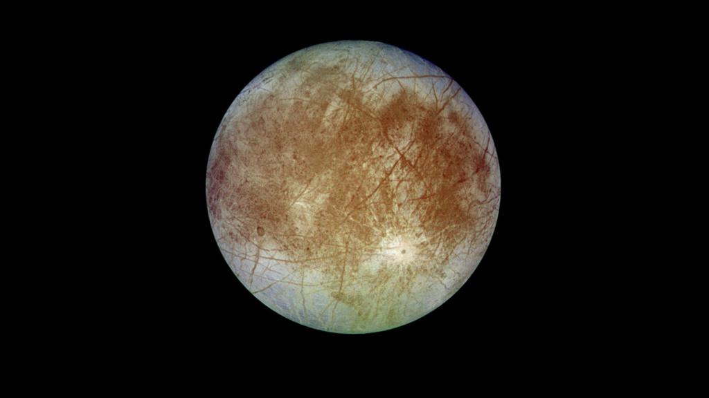 探査機ガリレオが撮影したエウロパの全景