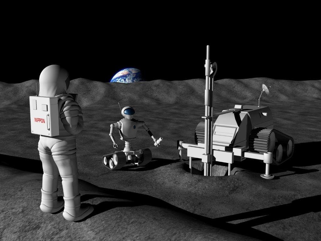 JAXA長期ビジョンにおける月探査のイメージ