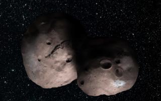 2017年7月の望遠鏡観測に基づく2014 MU69の想像図