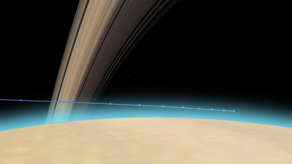 カッシーニの土星大気突入のタイムライン