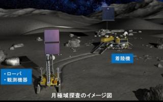 JAXAとISROが検討する月極地域の着陸探査のイメージ図