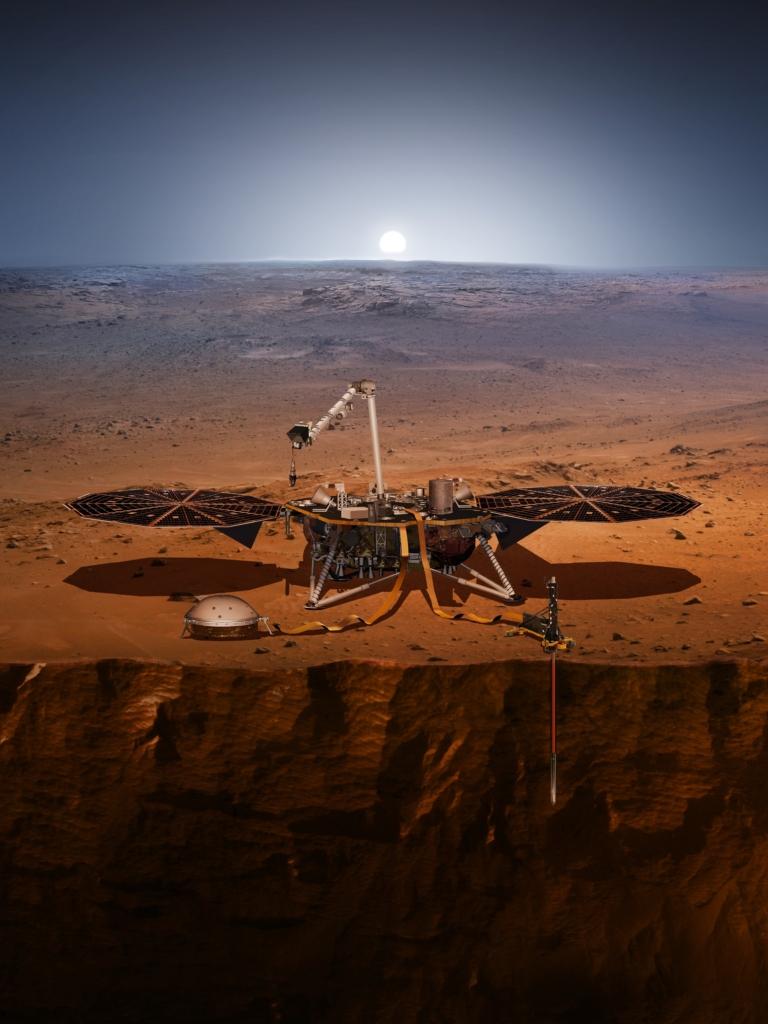 火星に着陸したインサイト