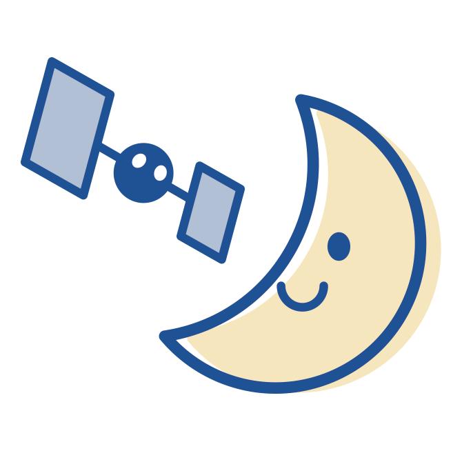 月探査情報ステーション ロゴマーク