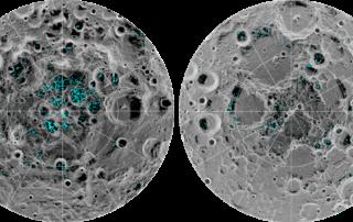 月の両極で発見された水の分布