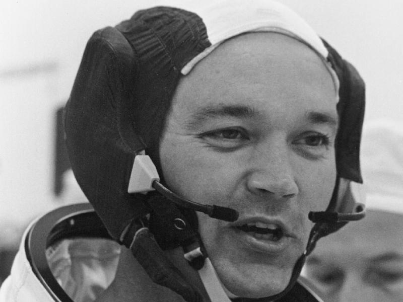 アポロ11号打ち上げ前のマイケル・コリンズ宇宙飛行士