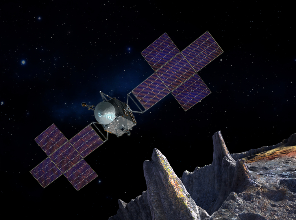 小惑星プシケに近づく探査機